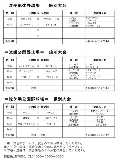 田原野球協会社会部:11月12日試...